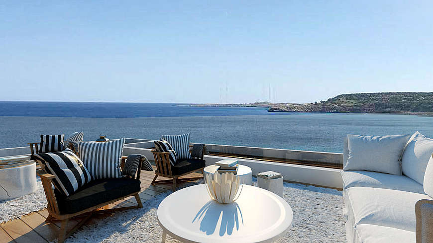 3 Bedroom Detached Luxury Beach Front Villa/Cape Greco